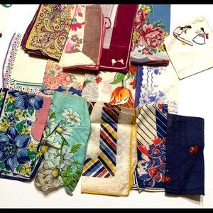 Lot of Vintage Handkerchiefs